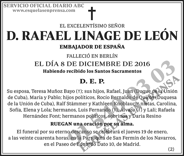 Rafael Linage de León